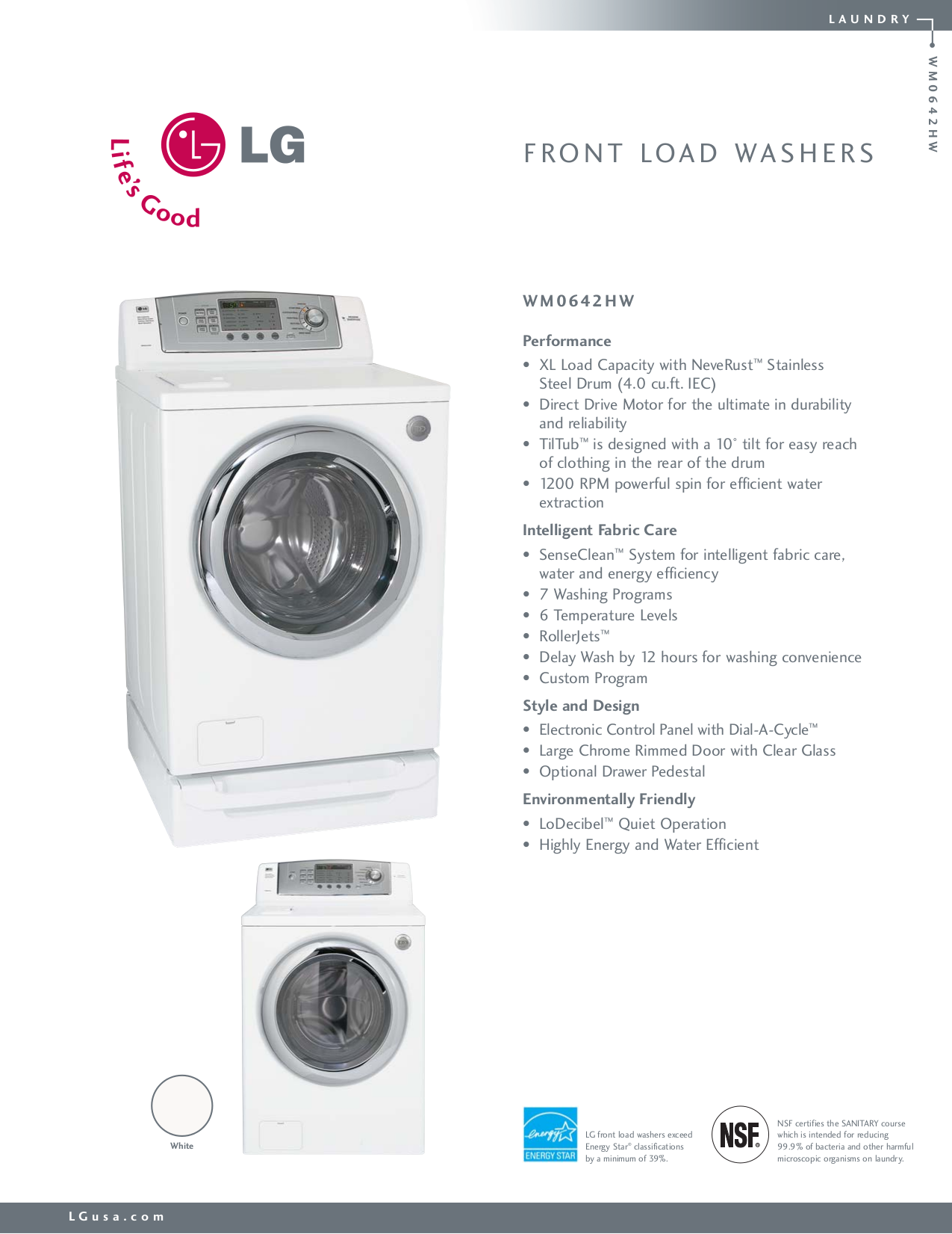 download free pdf for lg wm0642hw washer manual rh umlib com LG Front Load Washer Parts LG Washer Pump Casin