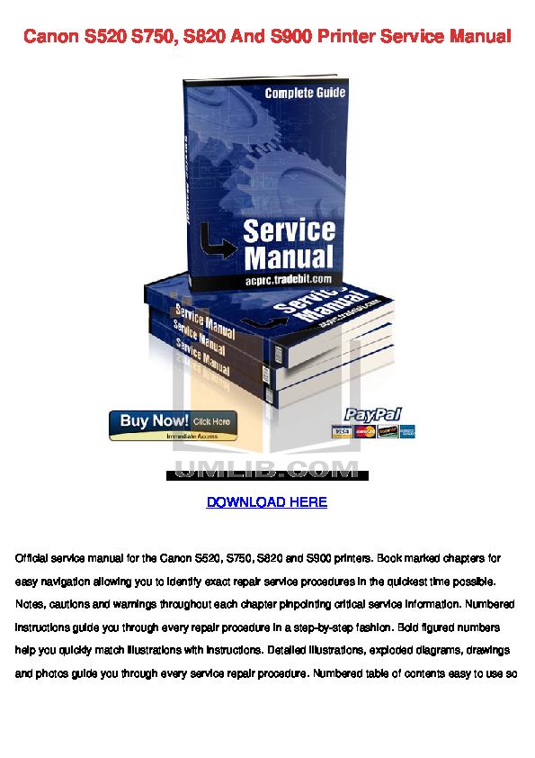 canon bjc 8500 printer service manual