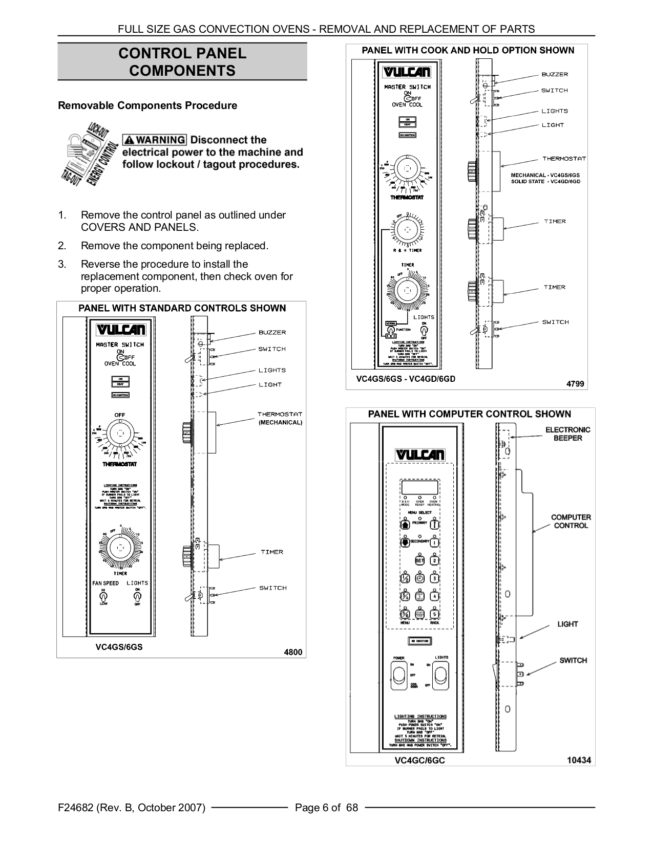 Vulcan Oven VC6GC pdf page preview