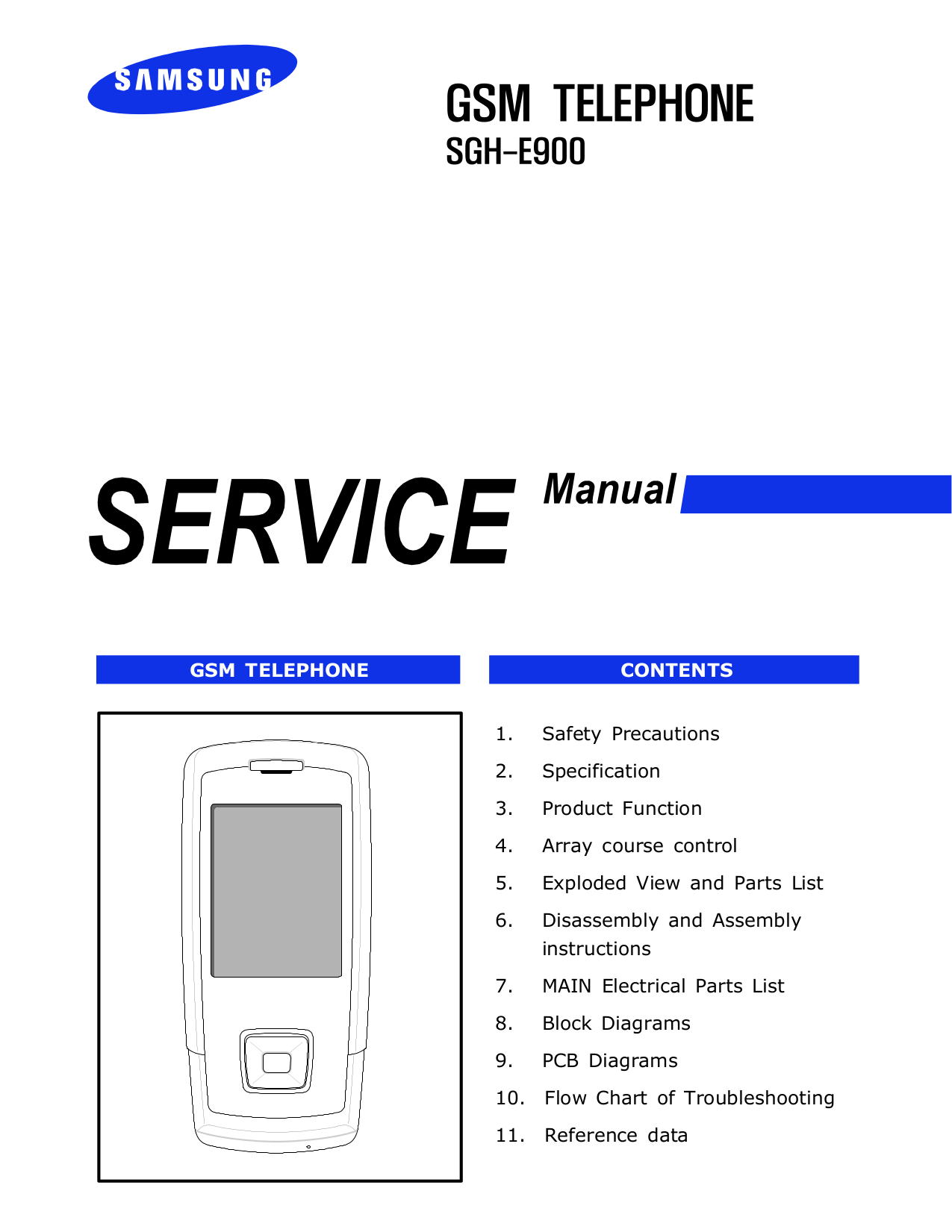 pdf for Samsung Cell Phone SGH-E900 manual