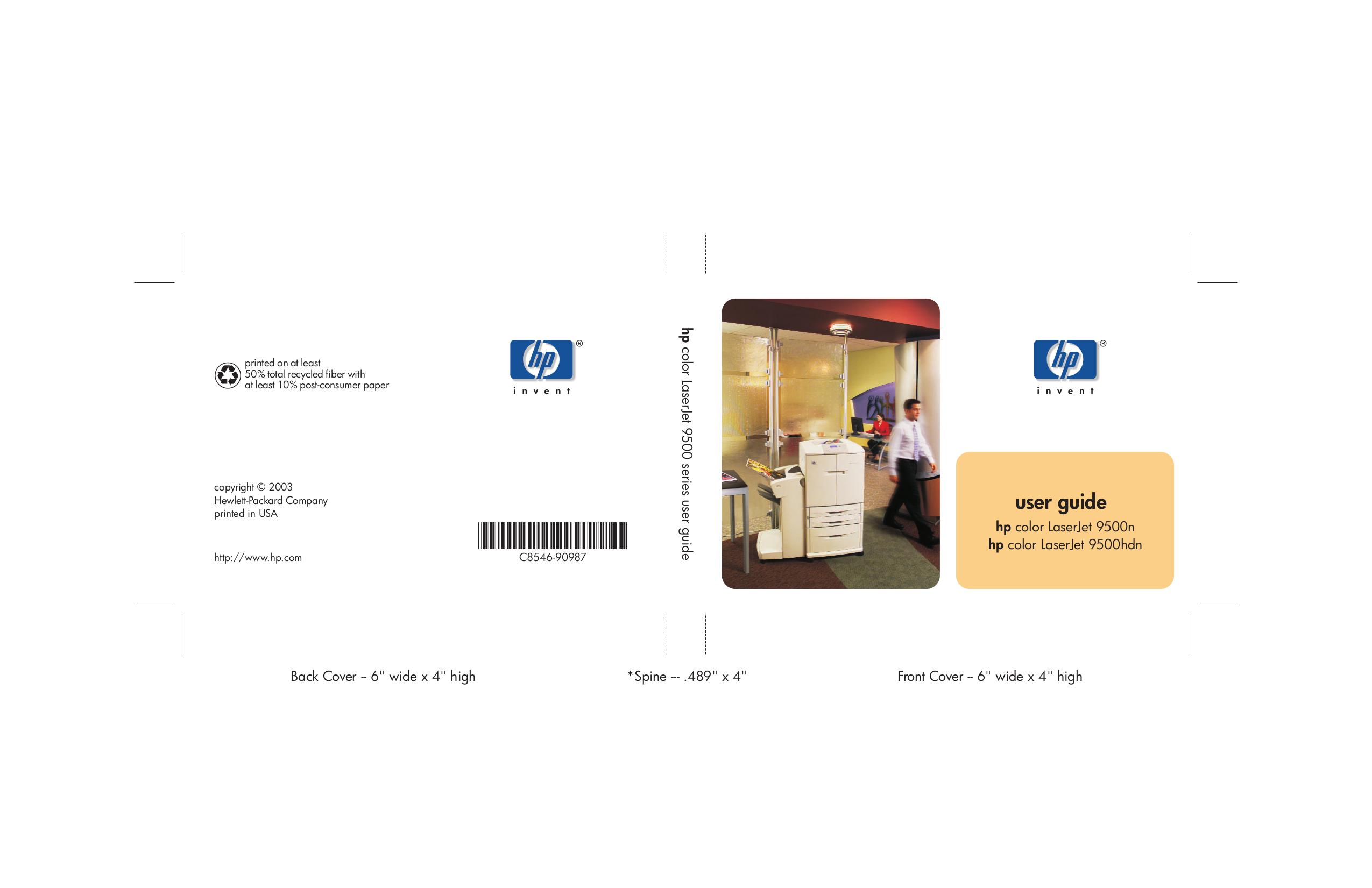 pdf for HP Printer Laserjet,Color Laserjet 8550gn manual