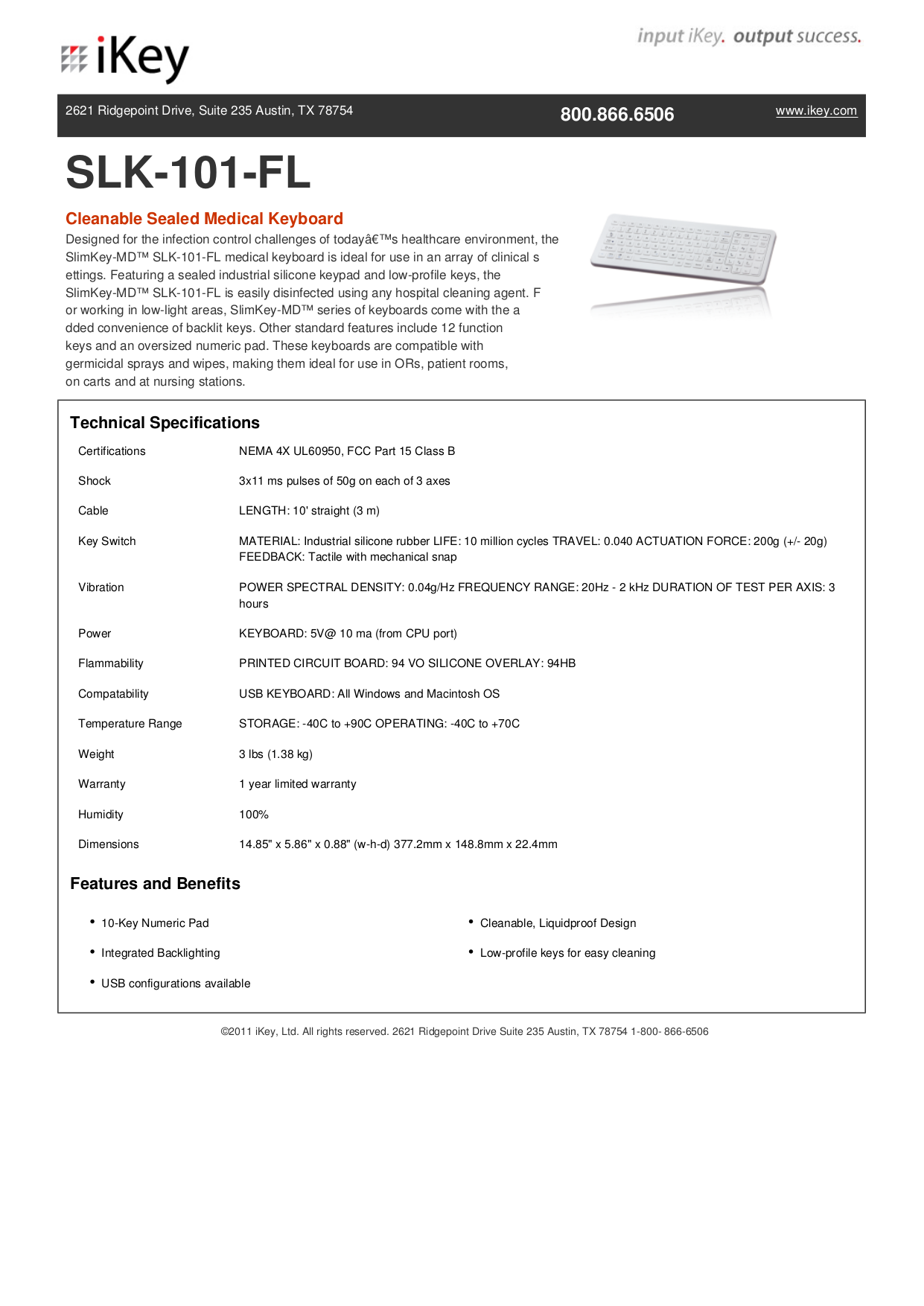 pdf for iKey Keyboard SLK-101 manual