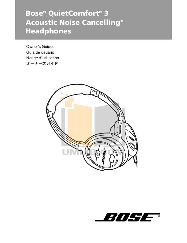 pdf for Bose Headphone TriPort In-Ear-Headphones manual