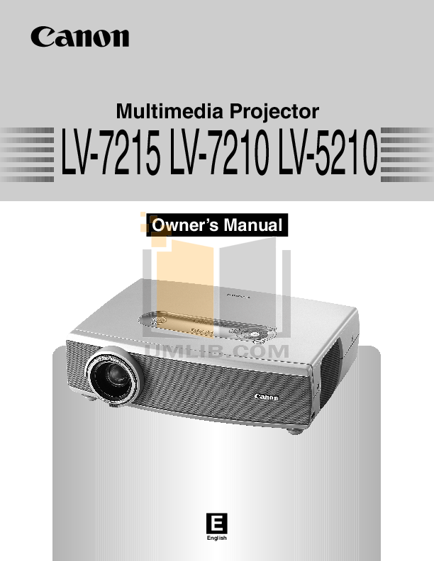 pdf for Canon Projector LV-5210 manual