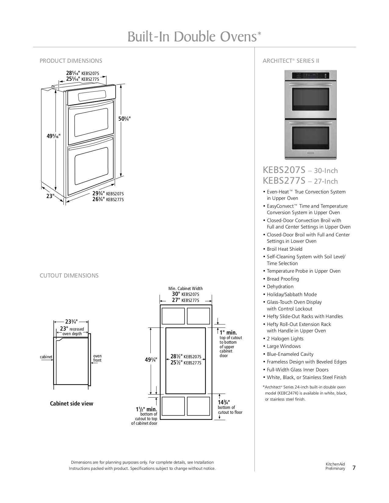 pdf manual for kitchenaid oven architect series ii kebs277s
