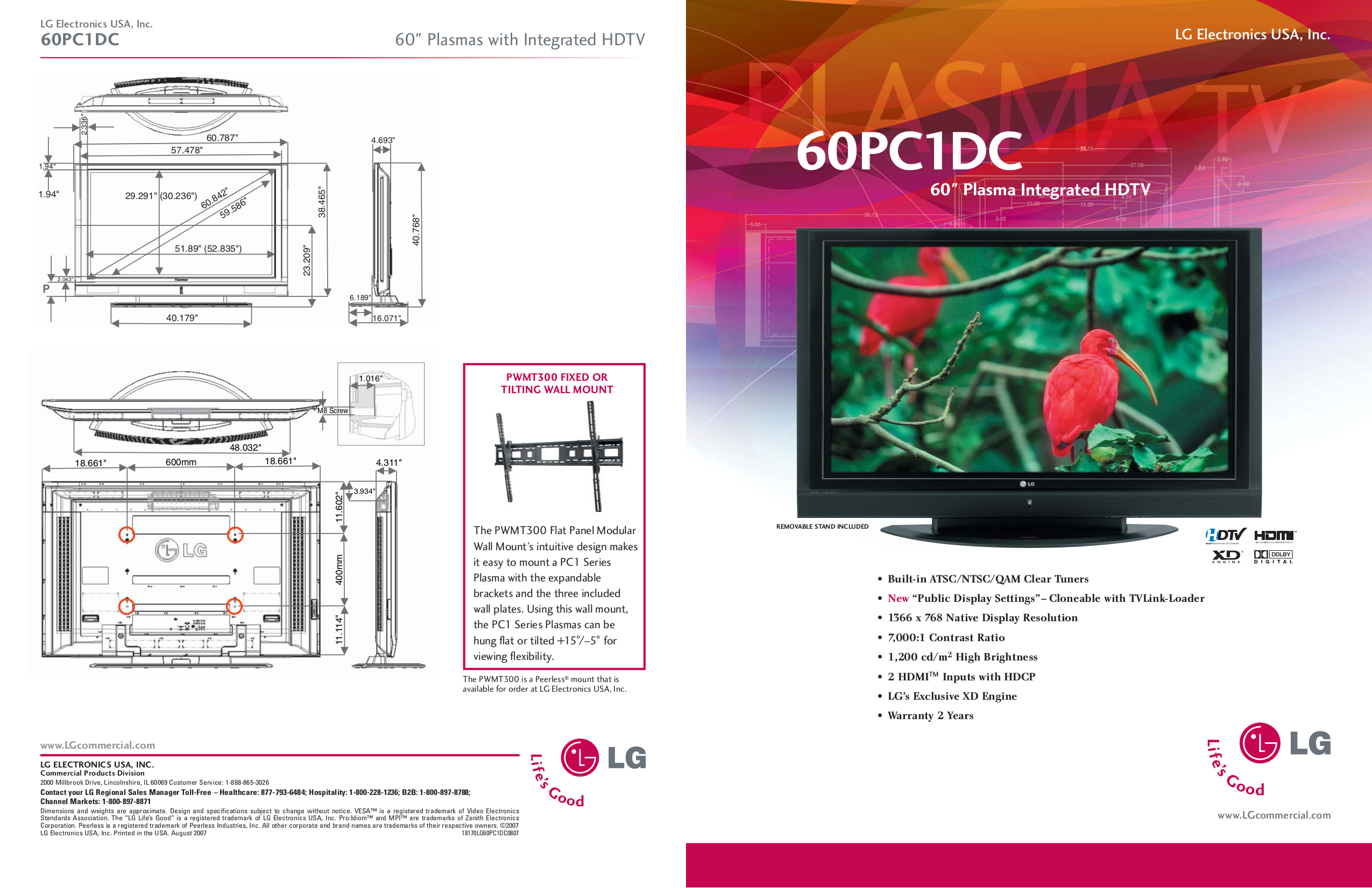 pdf for LG TV 60PC1D manual