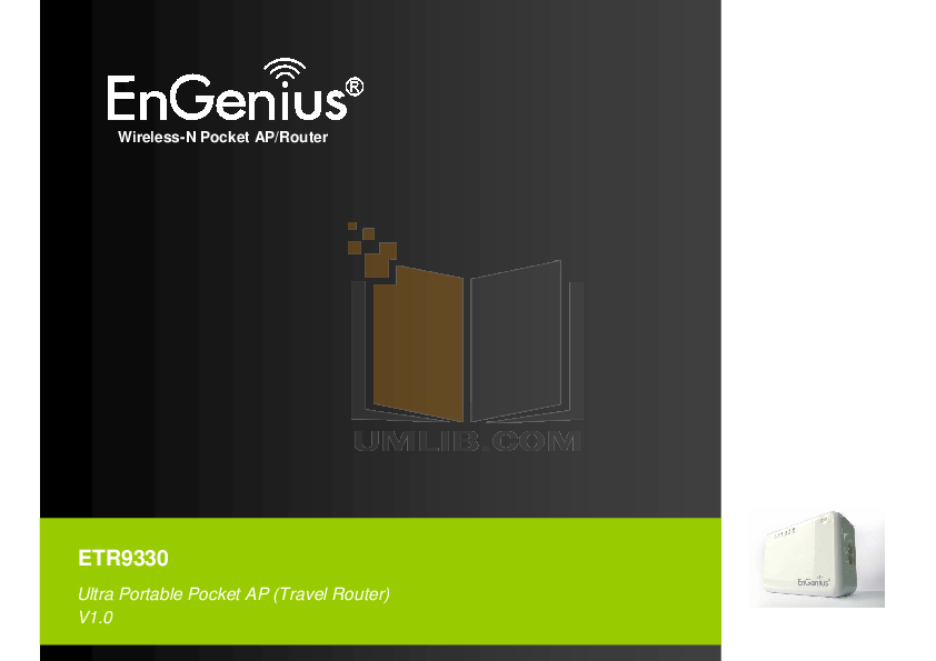 pdf for EnGenius Wireless Router ETR9330 manual