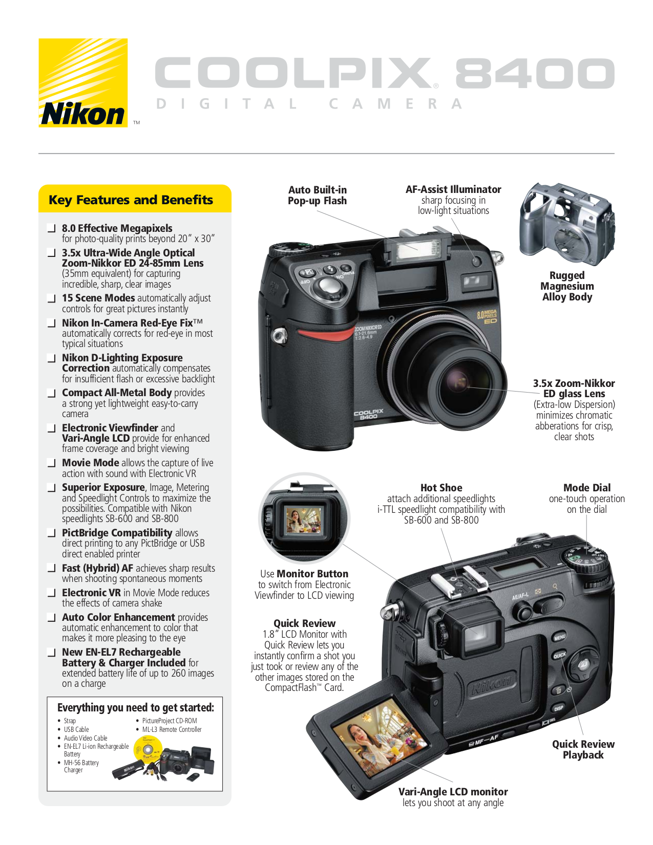 pdf for Nikon Other EN-EL7 Camera Rechargeable Battery manual