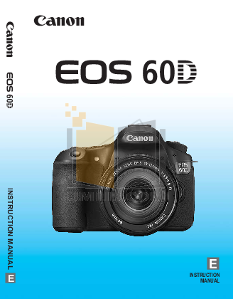 pdf for Canon Digital Camera EOS D60 manual