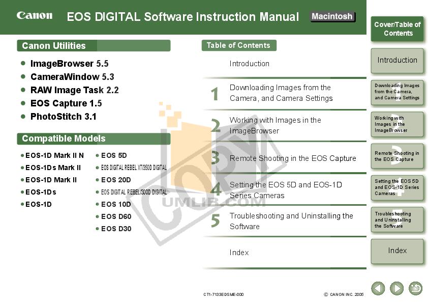 Canon Digital Camera EOS 1D pdf page preview