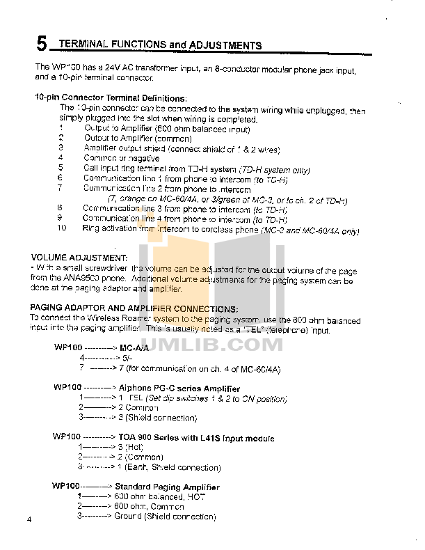 Aiphone Other MC-3 Intercoms pdf page preview