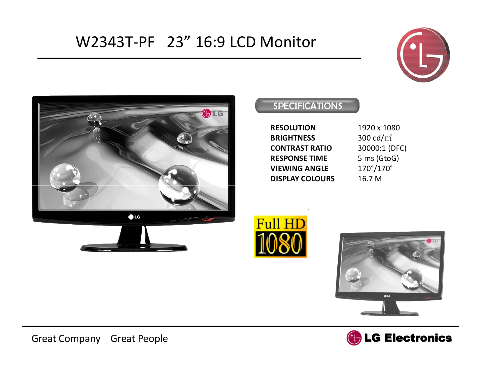 pdf for LG Monitor W2343T manual