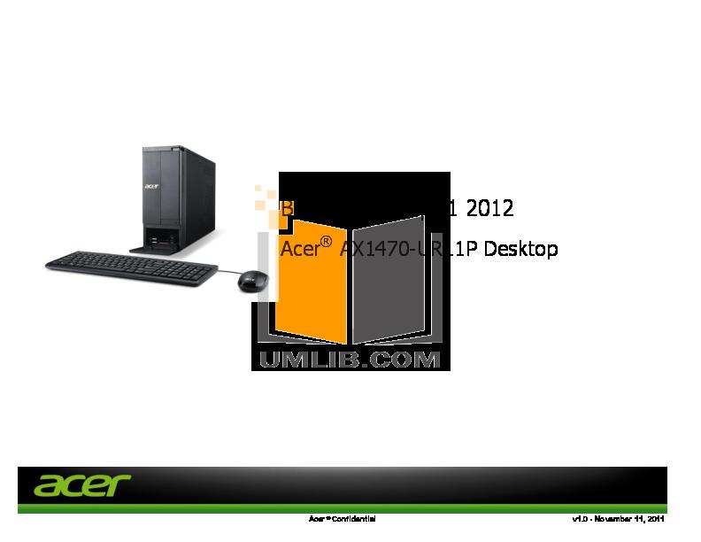 pdf for Acer Desktop Aspire X1470 manual