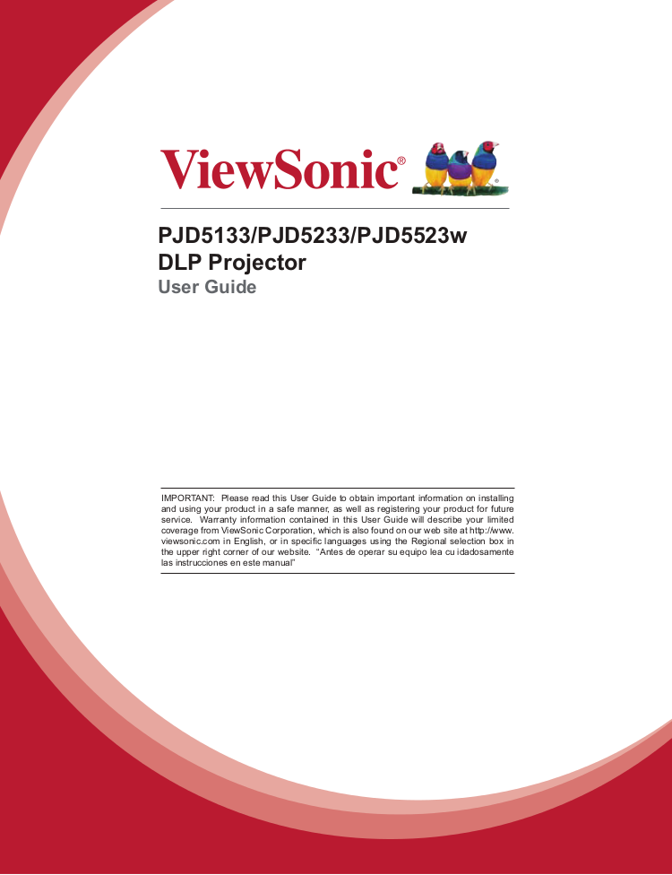 Manual viewsonic pjd5133