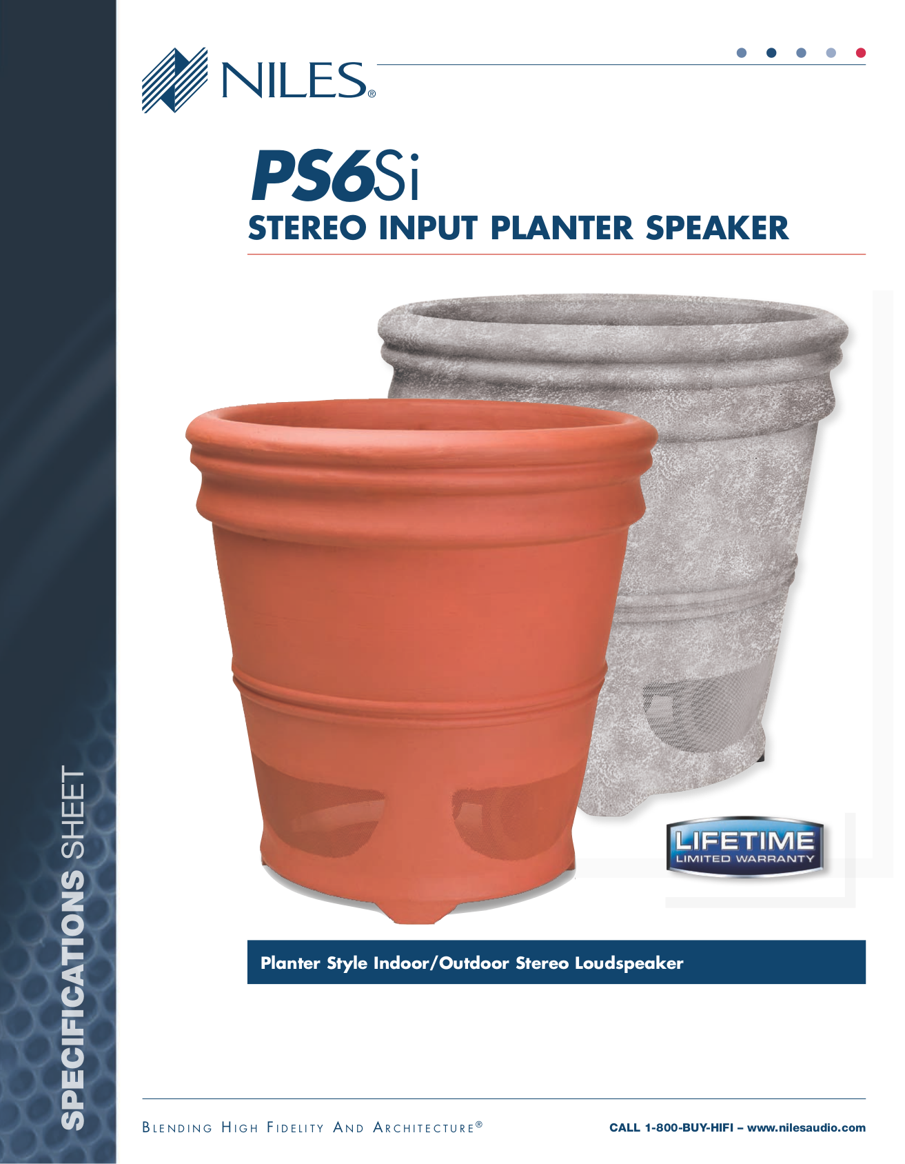Niles Speaker PS6Si pdf page preview