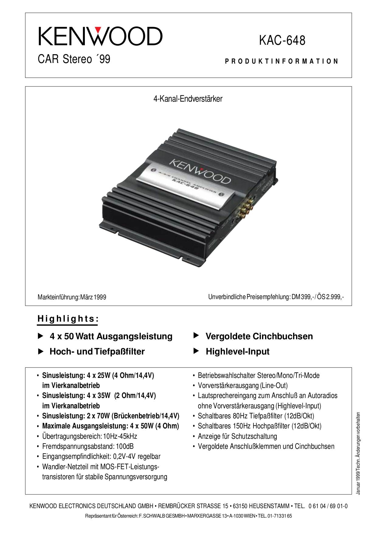 Wiring Diagram Kenwood Amplifier Kac 648 Data Ddx7015 Download Free Pdf For 648s Car Manual Rh Umlib Com Audio Speakers Jl 882
