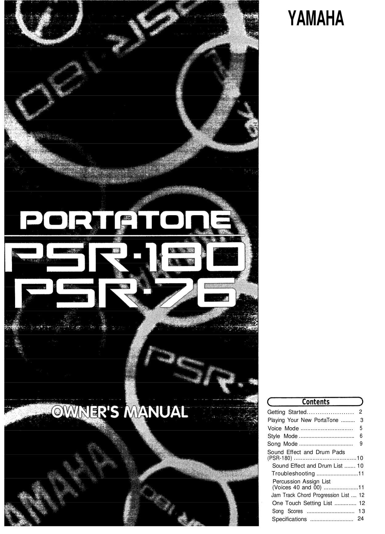 Download free pdf for Yamaha PSR-76 Music Keyboard manual