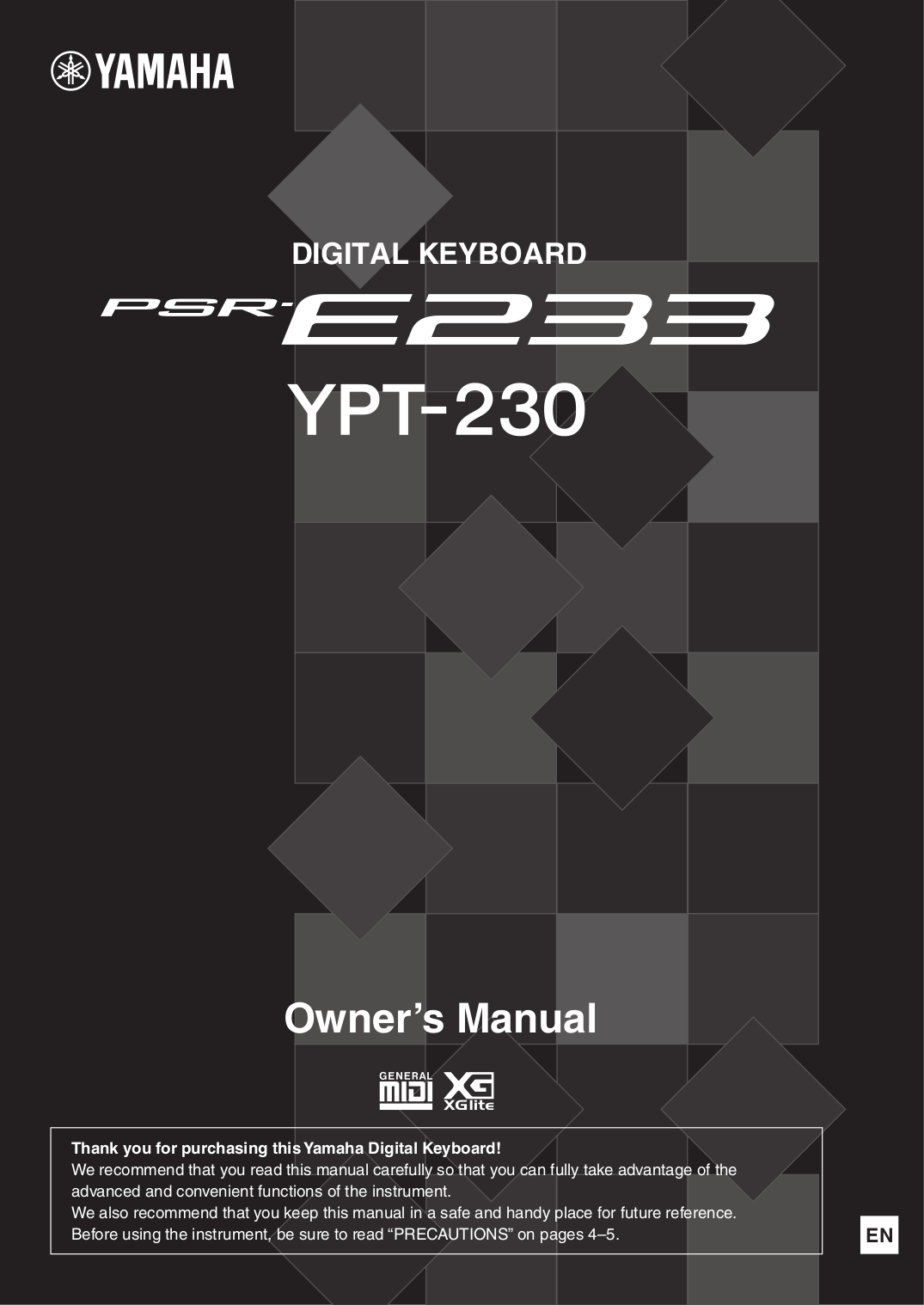 pdf for Yamaha Music Keyboard PSR-76 manual