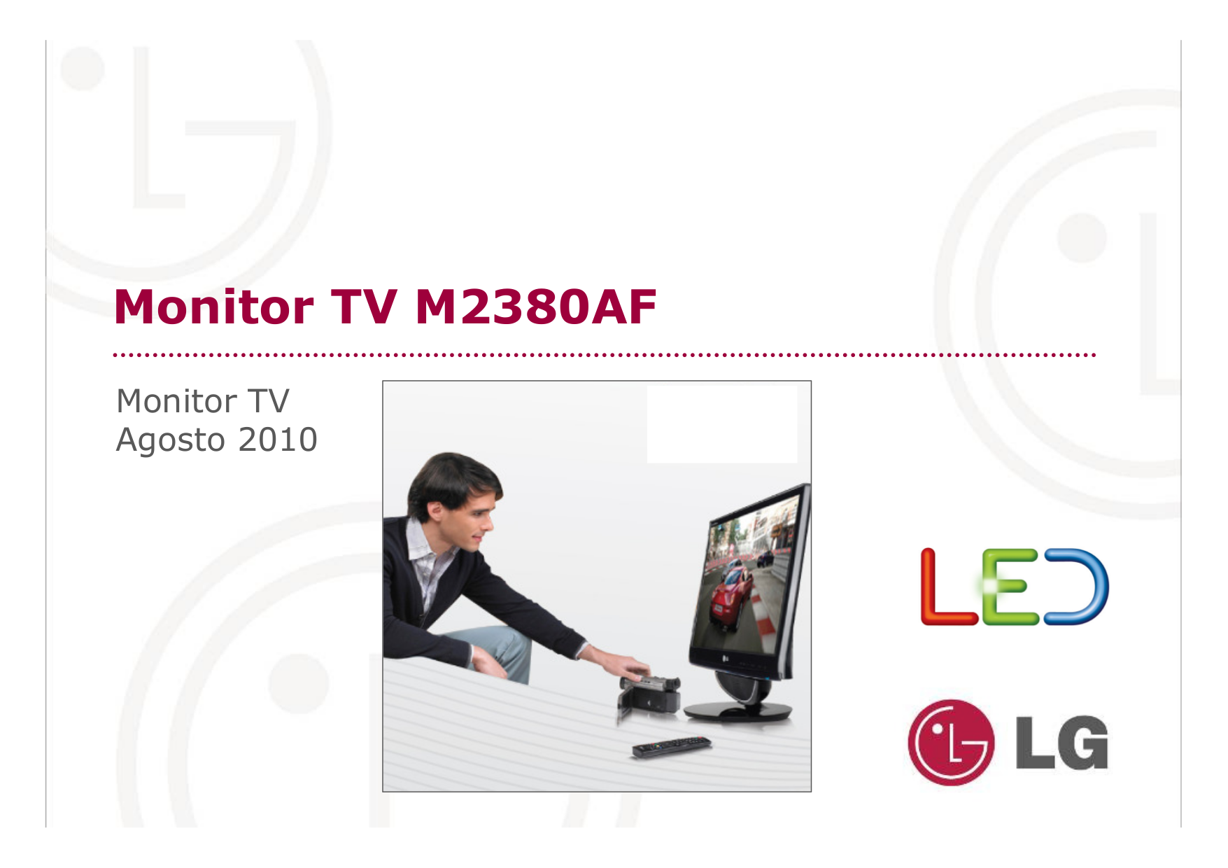 pdf for LG Monitor W2353V manual
