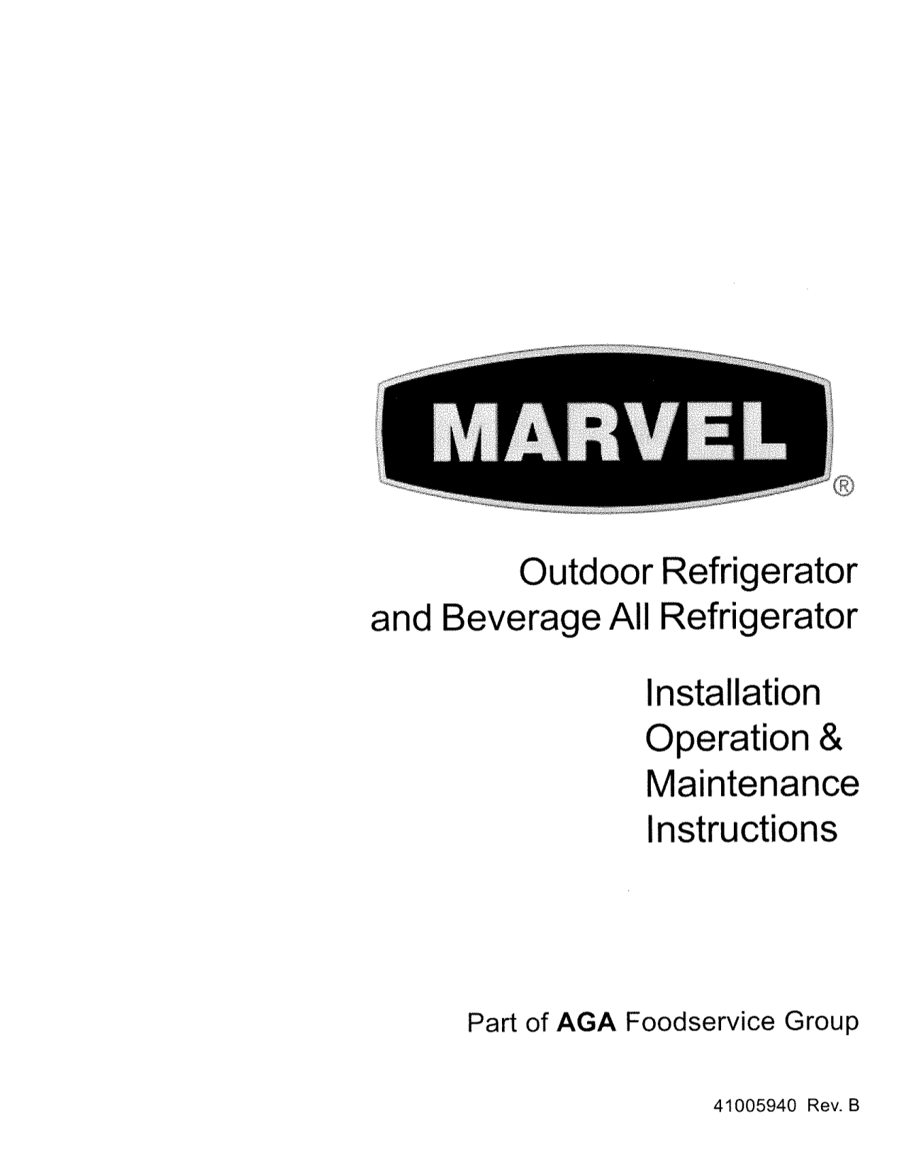 pdf for Marvel Refrigerator 6ORGDM-SS-F manual