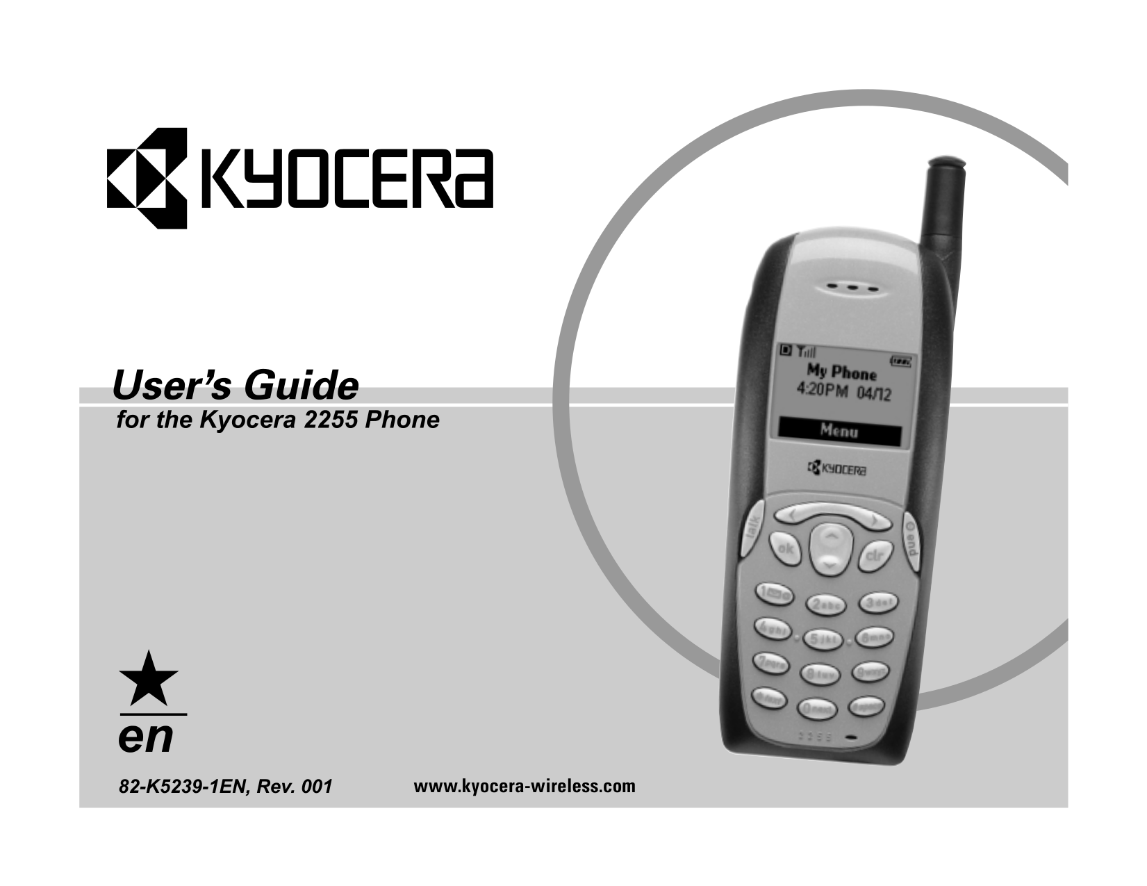pdf for Kyocera Cell Phone 3225 manual