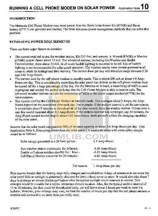 pdf for Davis Other Energy EnviroMonitor weather-accessories manual