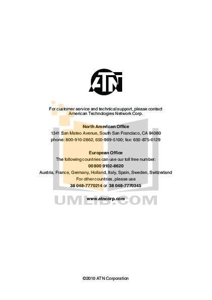 Atn Binocular Night Scout pdf page preview