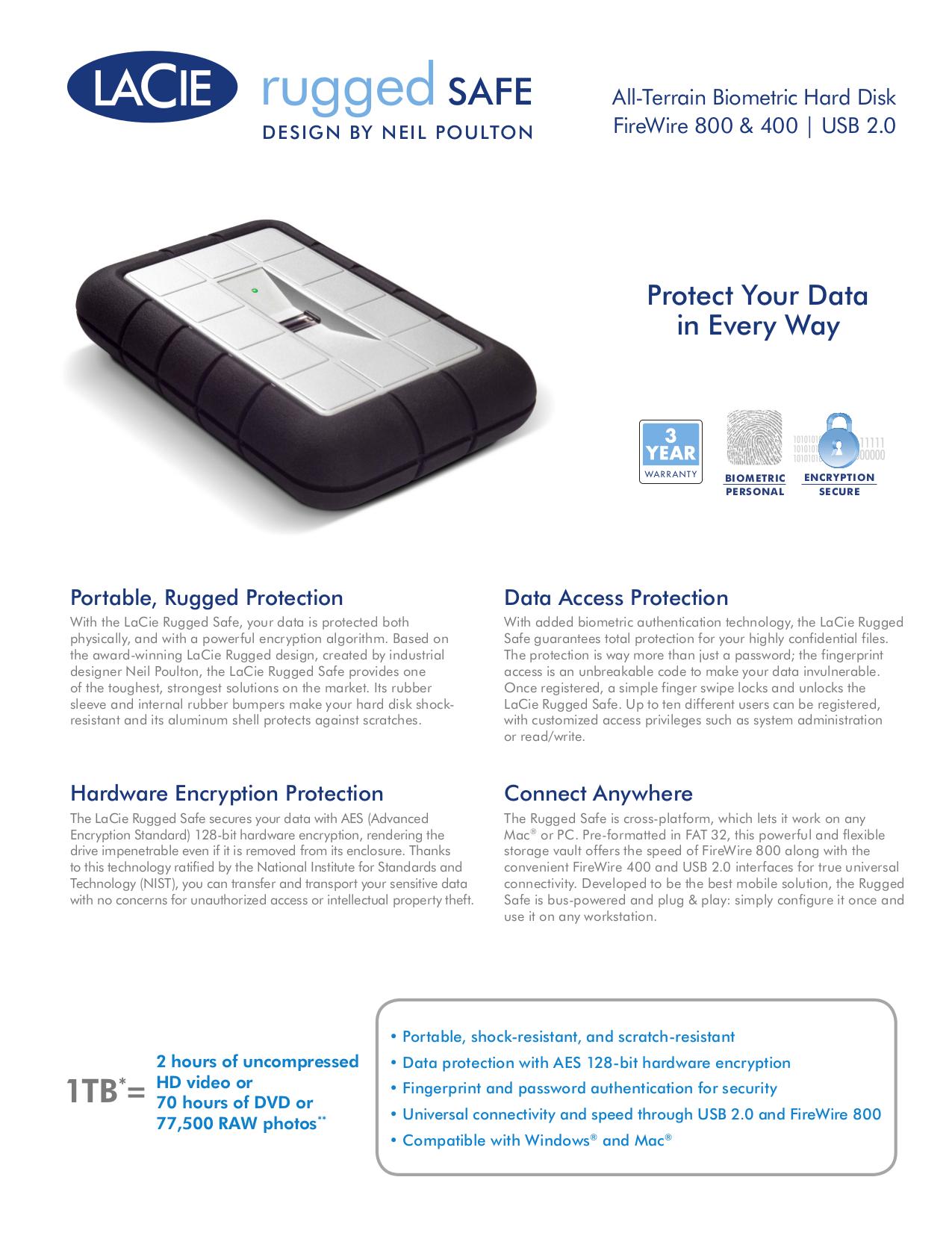 pdf for LaCie Storage 301490 manual
