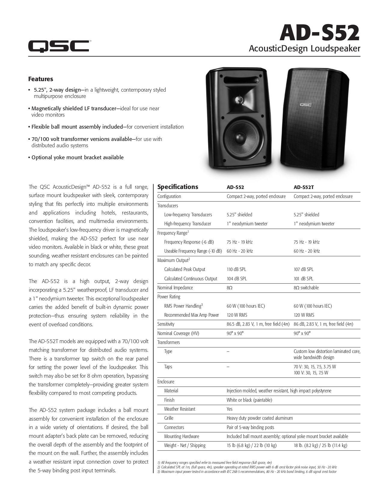 download free pdf for qsc ad s52 speaker manual rh umlib com QSC Speakers QSC Speakers
