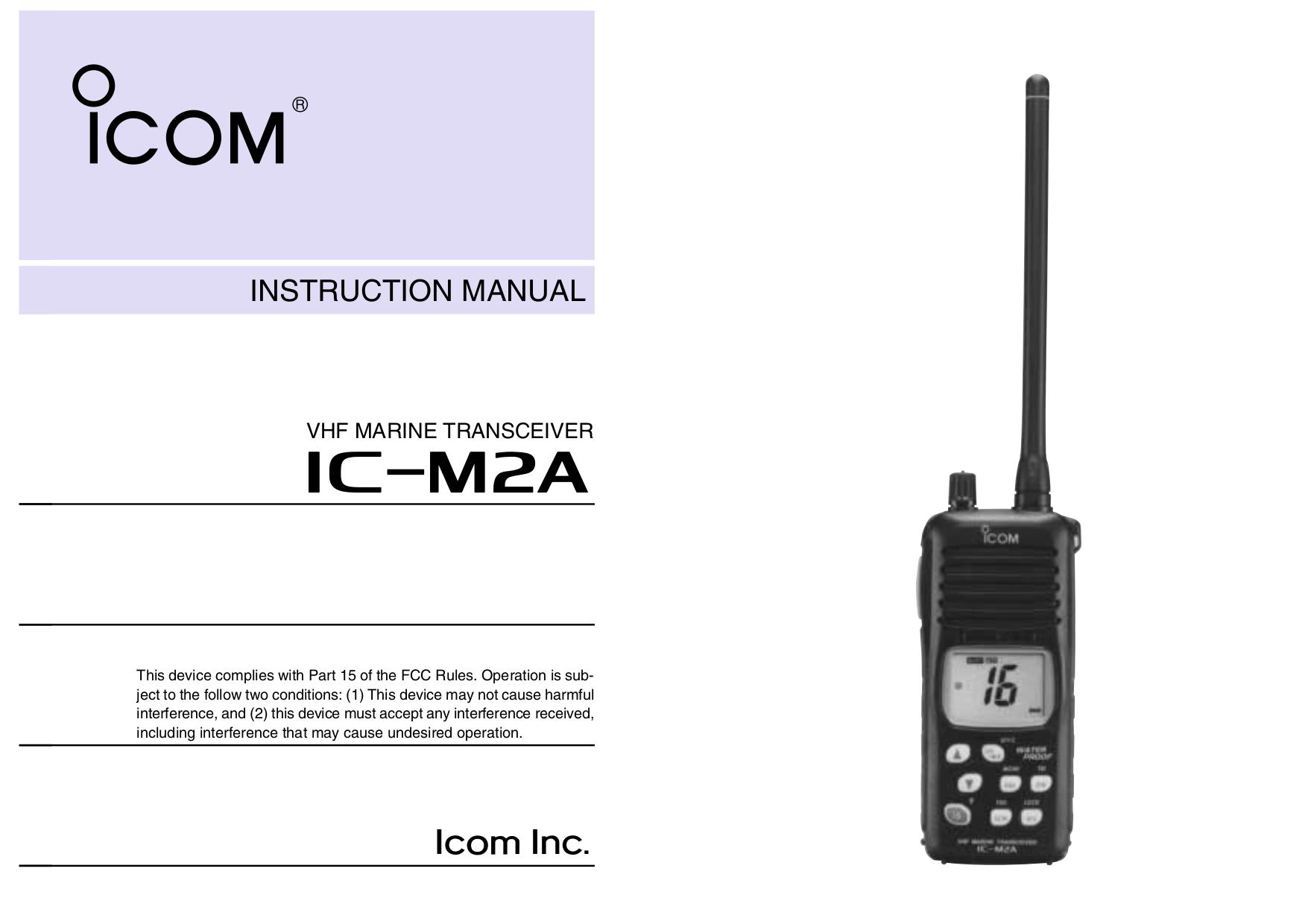 download free pdf for icom ic m2a radio marine other manual rh umlib com icom vhf marine radio manual icom vhf marine radio manual
