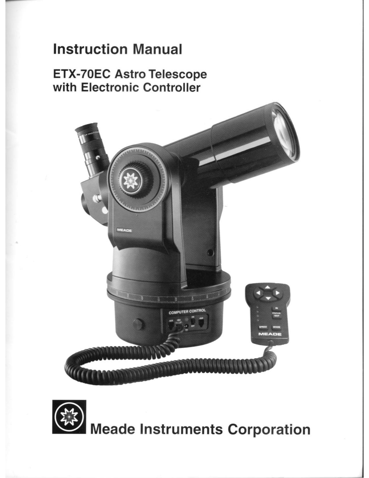 Meade etx-90pe instruction manual pdf download.