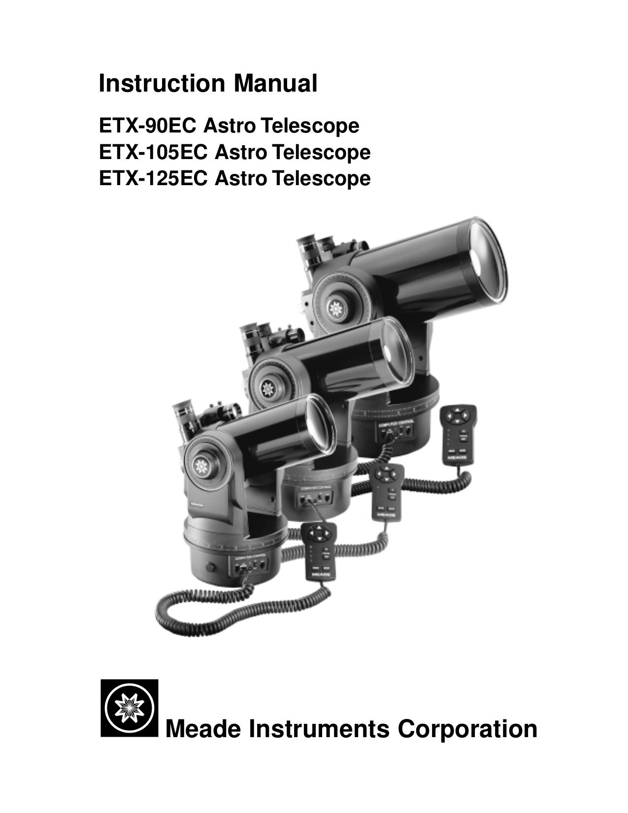 Meade etx-90 observer 90mm f/13. 8 maksutov-cassegrain.