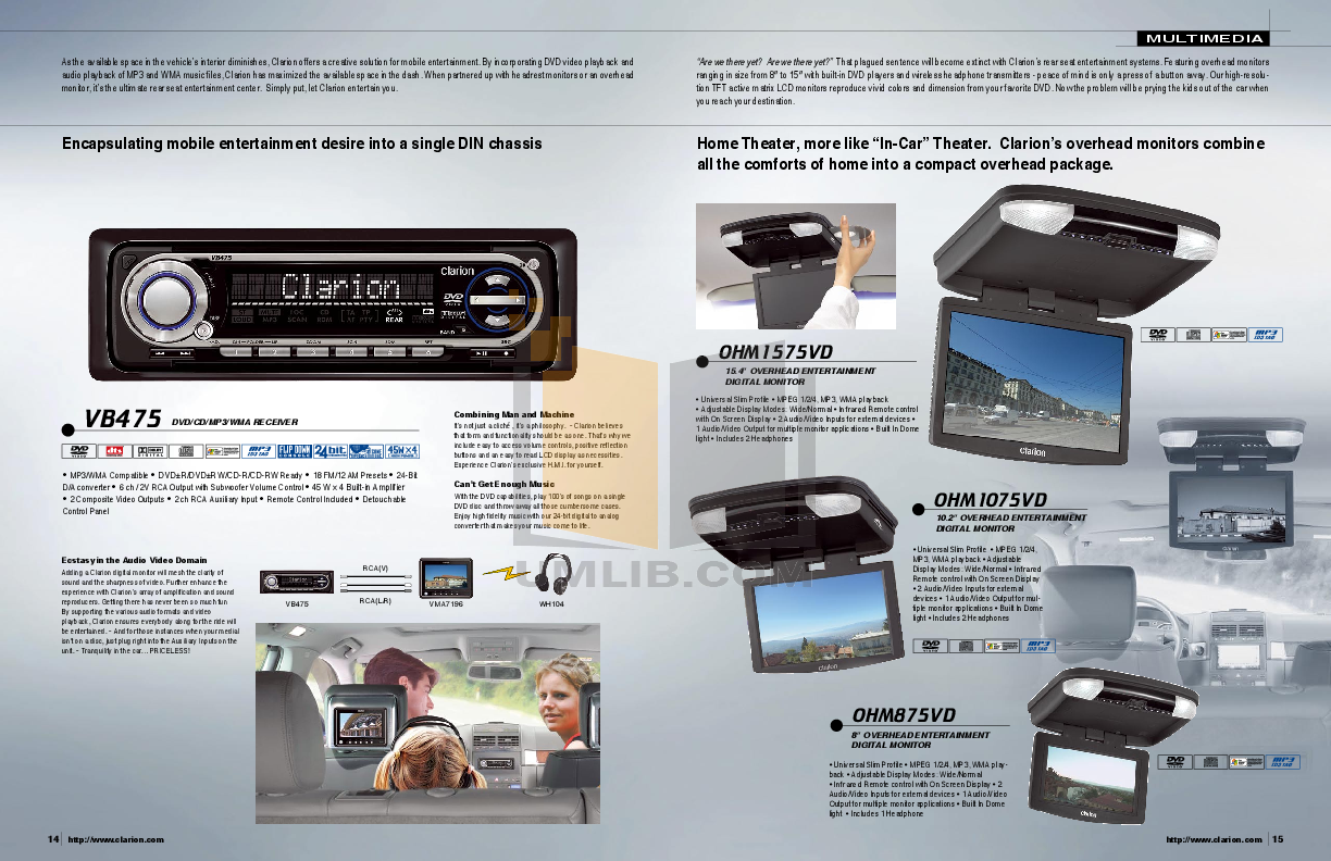 Clarion Speaker SRH292HX pdf page preview