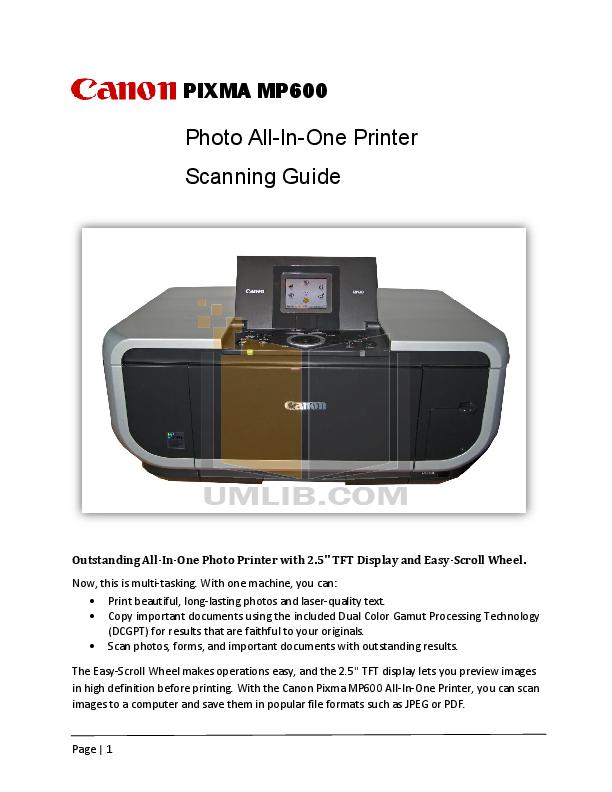 download free pdf for canon pixma mp600 multifunction printer manual rh umlib com canon pixma mp600 service manual canon pixma mp600 service manual