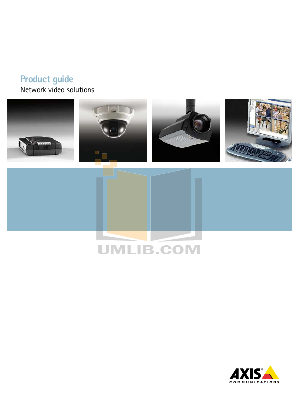 pdf for Axis Security Camera 209FD-R manual