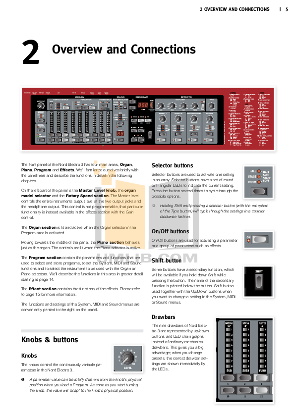 Clavia Music Keyboard Nord C1 pdf page preview