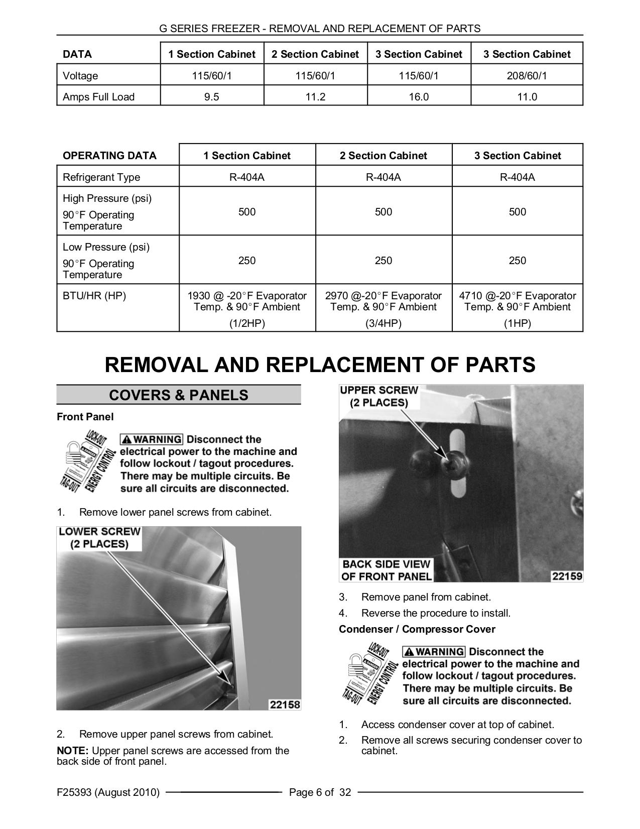 ... Traulsen Freezer G22010 pdf page preview ...