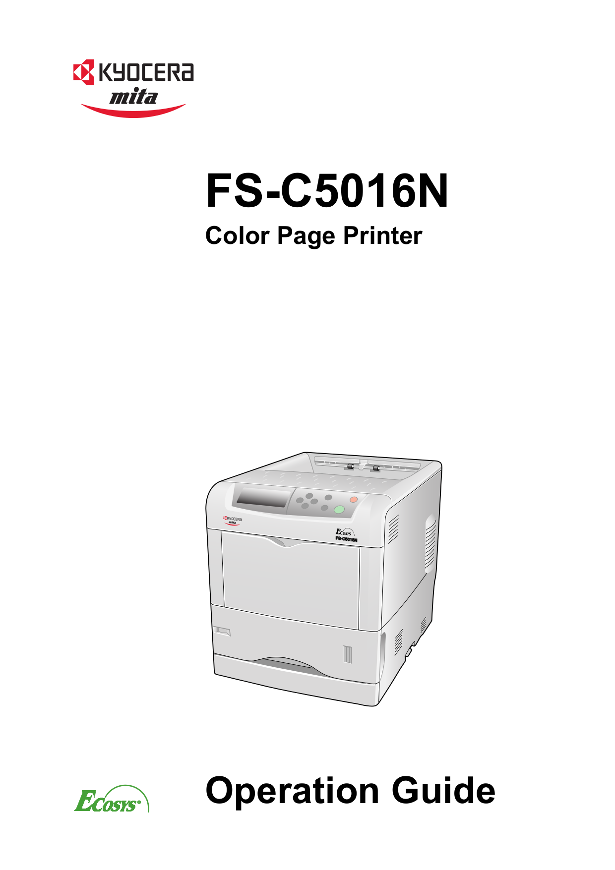 pdf for Kyocera Printer FS-C5016N manual