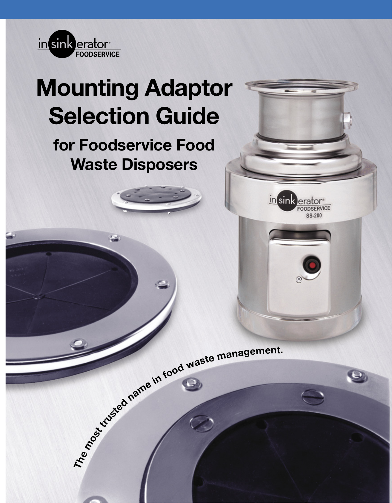 pdf for Insinger Other SERIES O Food Waste Disposer manual