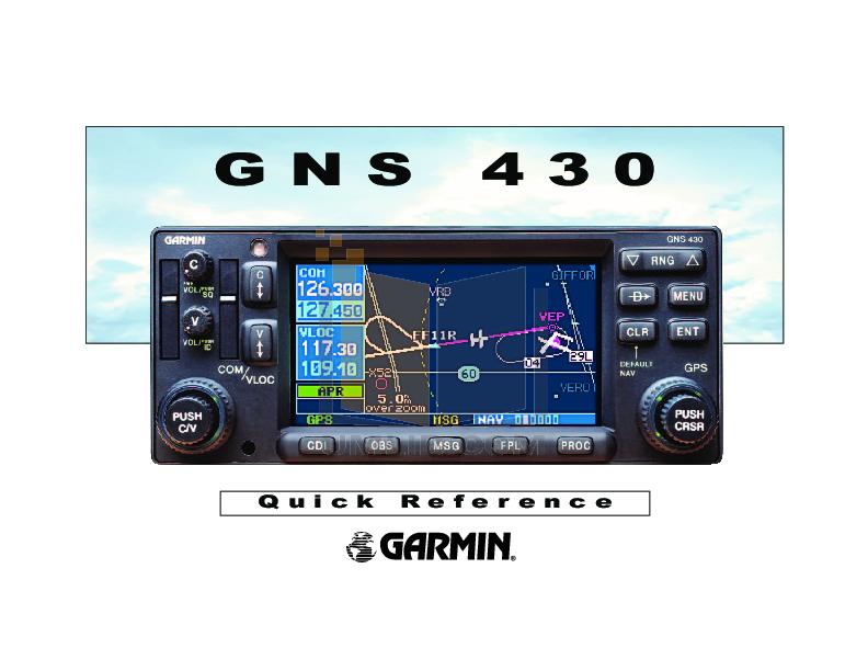 Garmin GNS 430(A) User Manual