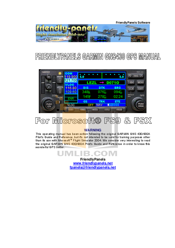 Download free pdf for Garmin GNS 430 GPS manual