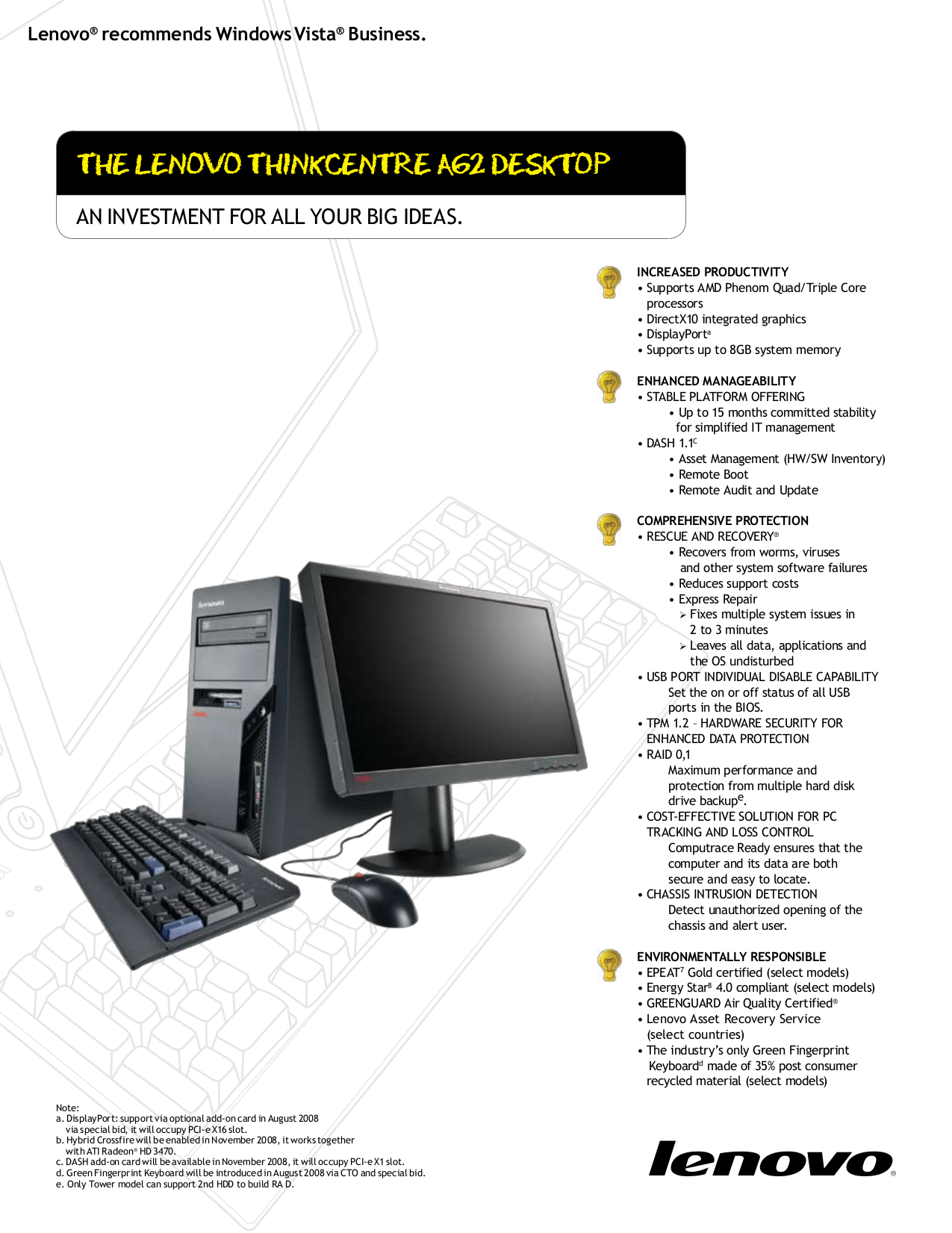 pdf for Lenovo Desktop ThinkCentre A62 7062 manual