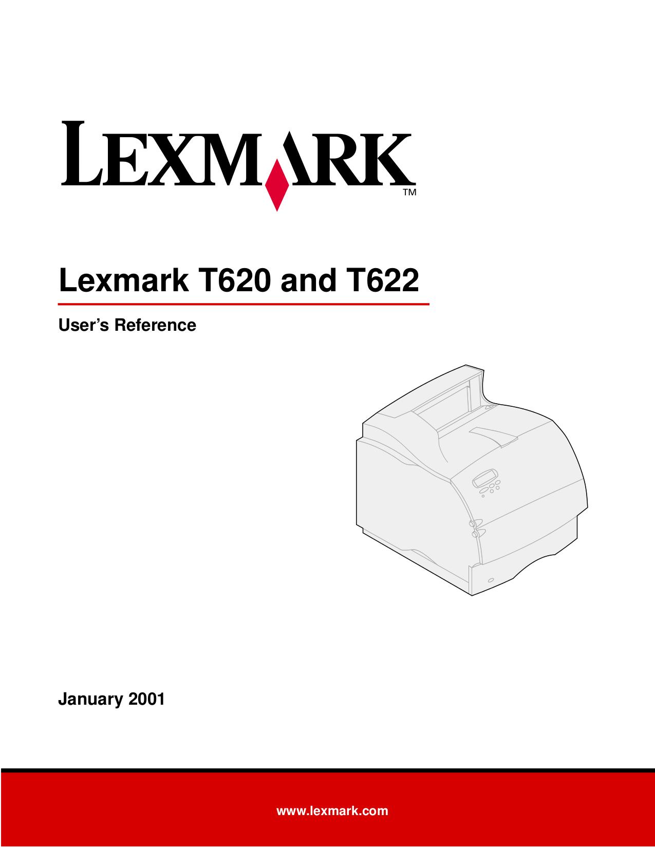 pdf for Lexmark Printer T622 manual