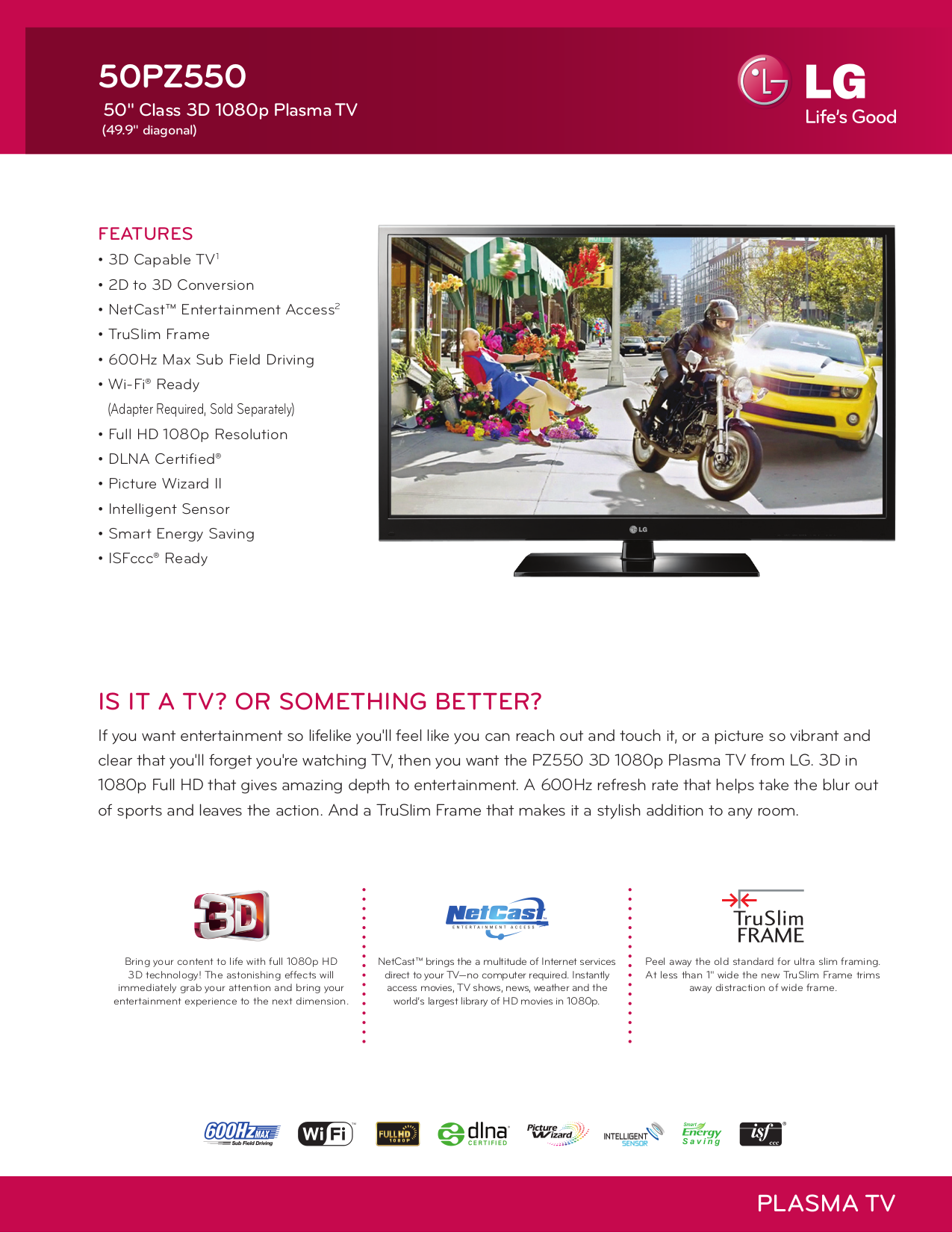 pdf for LG TV 50PZ550 manual