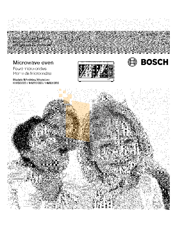 pdf for Bosch Microwave HMB5020 manual