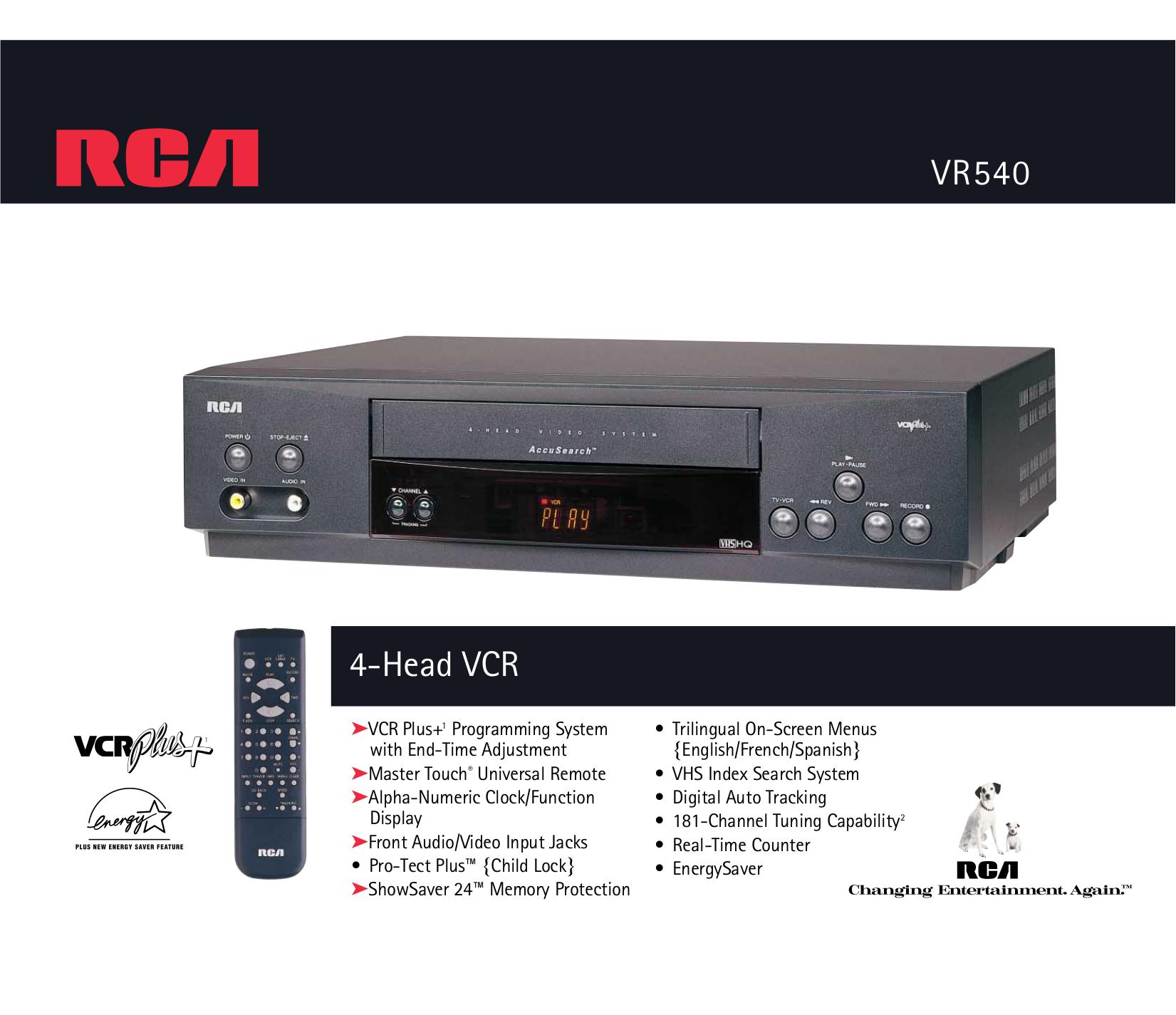 download free pdf for rca vr540 vcr manual rh umlib com Philips TV User Manual Philips Instruction Manuals