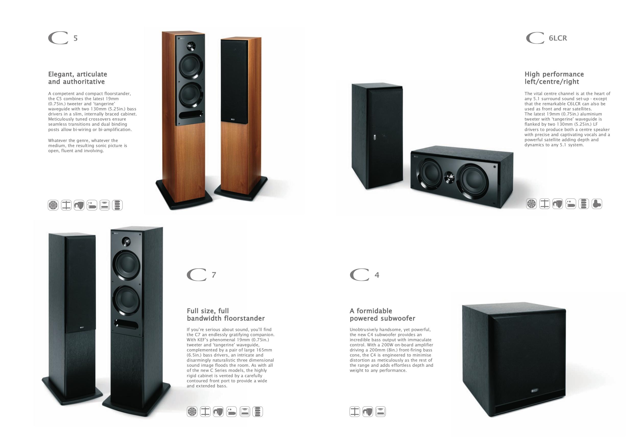 kef c series. kef speaker c series c7 pdf page preview kef