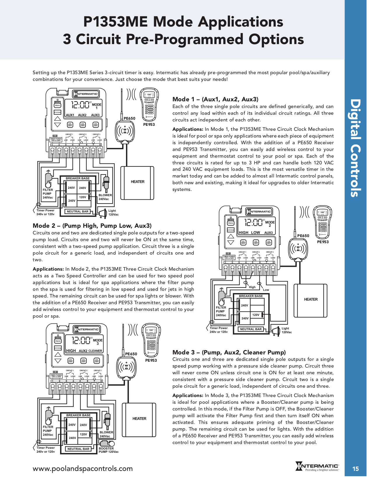 Intermatic P1353 wiring diagrams.pdf 1 pdf manual for intermatic other p1353me three circuit clock intermatic p1353me 240v wiring diagram at creativeand.co