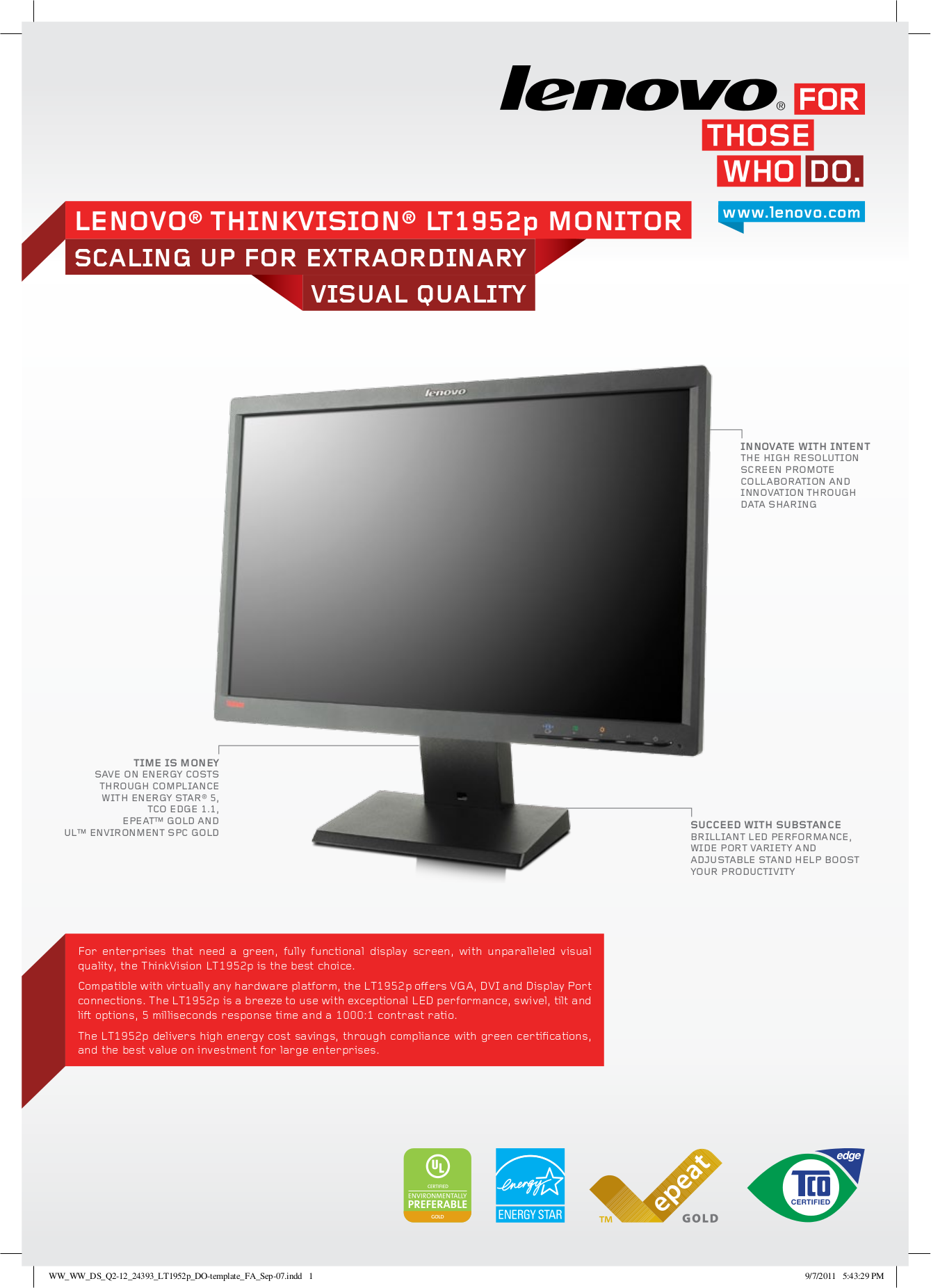 lenovo thinkvision monitor manual