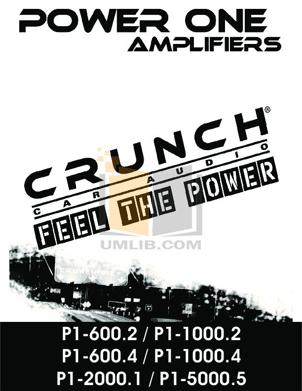 pdf for Crunch Car Amplifier PowerOne P1-2000.1 manual